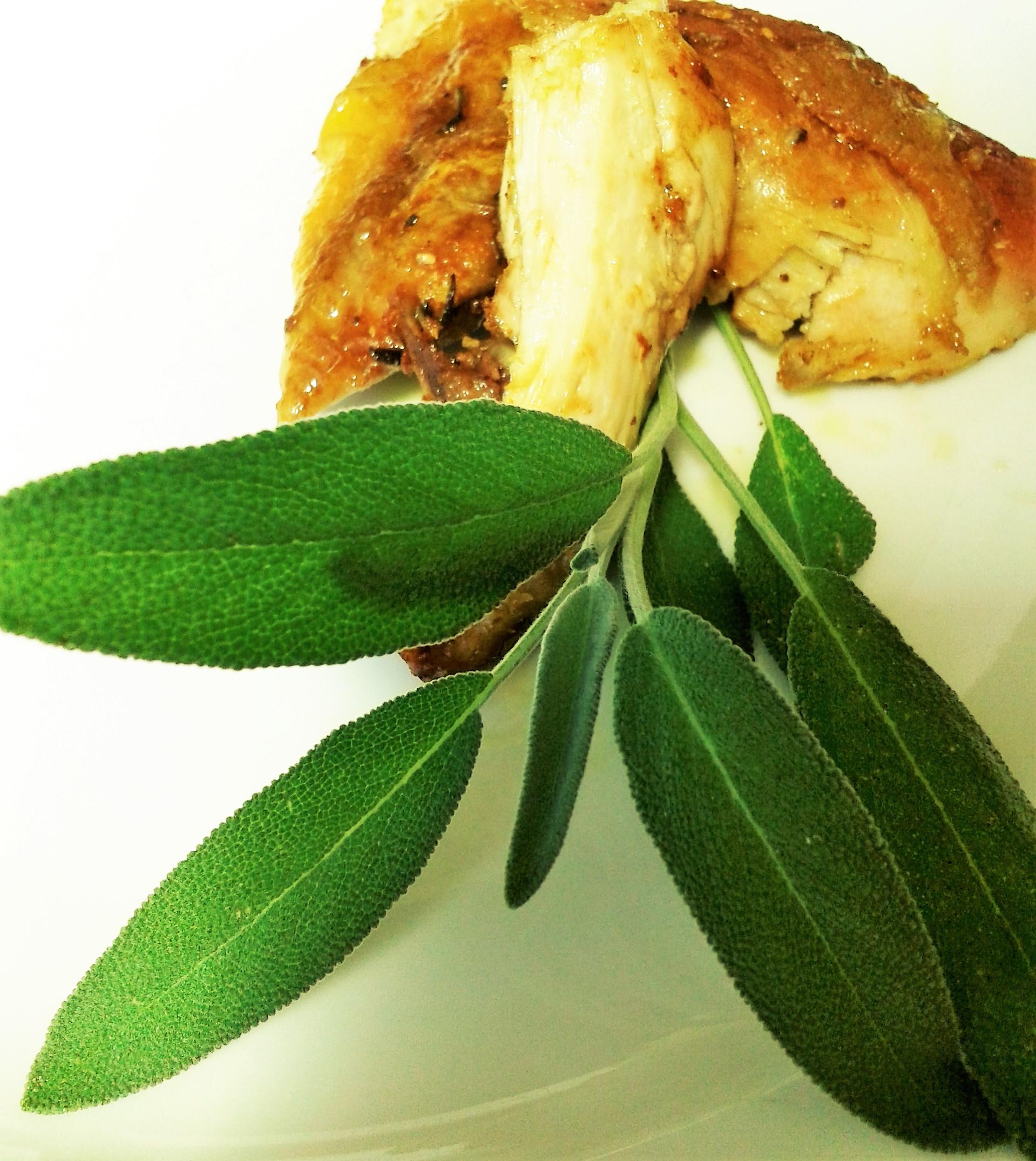 spezzatino di pollo all'aroma di salvia
